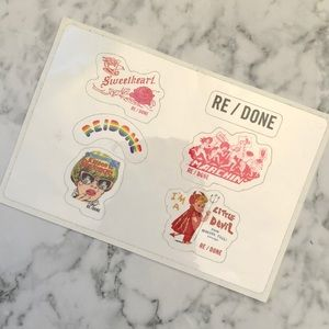 Re/Done limited Edition Stickers ♥️